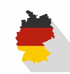 Germany map with national flag icon flat style vector