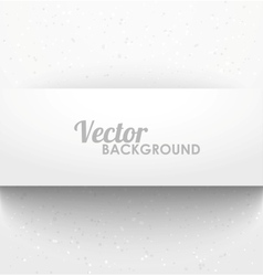 Paper rectangle banner with drop shadows vector image
