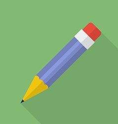 Pencil icon Modern Flat style with a long shadow vector image vector image