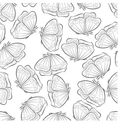 A beautiful butterfly flying seamless pattern vector