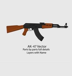 a kalashnikov ak-47 assault vector image