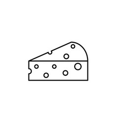 a piece of cheese icon meal cheese vector image
