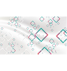 abstract gradient red and green geometric squares vector image