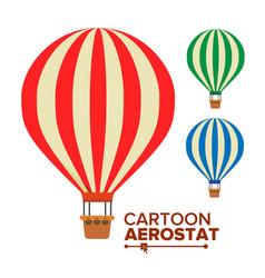 aerostat balloon vintage transport hot vector image