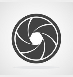 aperture diaphragm icon vector image