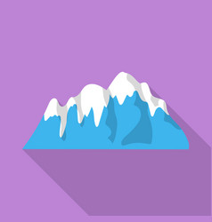 Arctic mountains icon flat style vector
