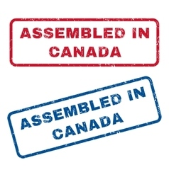 Assembled in canada rubber stamps vector