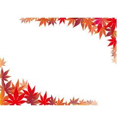 Autumn leaf frame 2 vector