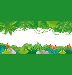background on jungle theme in cartoon style vector image