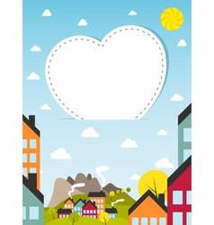 Banner with small town vector