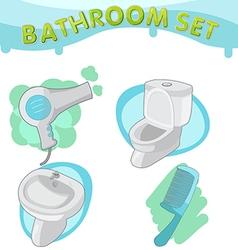 Bathroom Symbol icon set E vector
