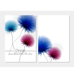 Beauty brochure Blue pink and white colors vector