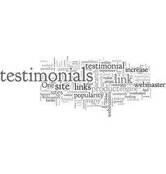 better link popularity through testimonials vector image