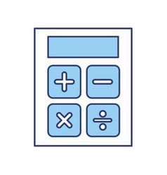 Blue calculator cartoon vector