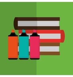 books design learning icon Colorfull vector image