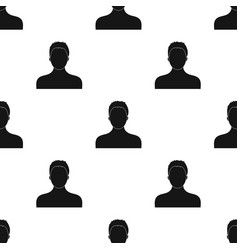 boxer icon in black style isolated on white vector image