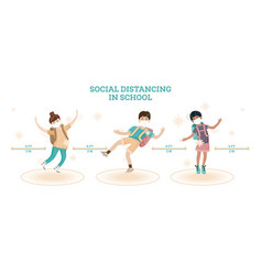 boys and girl are playing together and jumping up vector image
