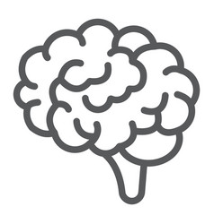 brain line icon anatomy and neurology vector image