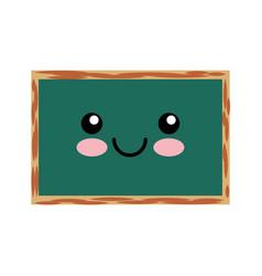 chalkboard school kawaii character vector image
