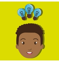 child student idea bulb vector image