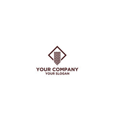 Chimney brick logo design vector