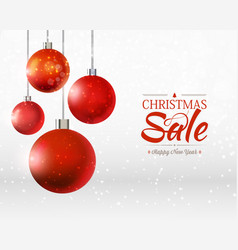 christmas and happy new year sale poster vector image