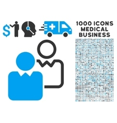 Clients Icon with 1000 Medical Business Symbols vector image