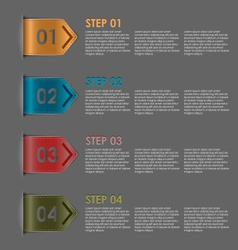 Colorful bookmarks steps for tutorial vector