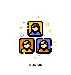 company organizational structure icon for hr vector image