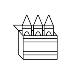 Crayon box design vector