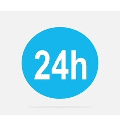 Customer Support Service 24h Icon vector image
