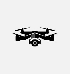 Drone modern icon logo for graphic vector