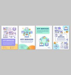 Dtp services brochure template layout desktop vector