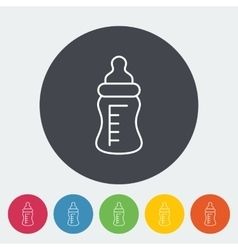 Feeding bottle flat icon vector