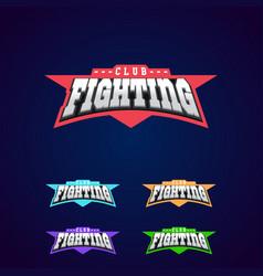 Fight club emblem mixed martial arts sport logo vector