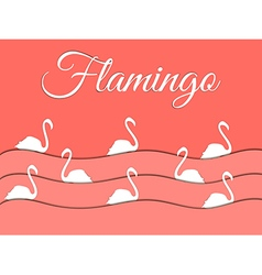 Flamingo and paper waves vector