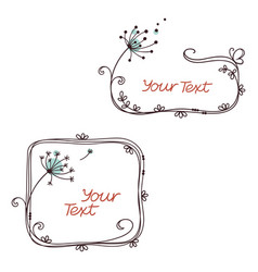 Floral text frames vector