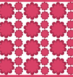 Flower delicate seamless pattern design vector