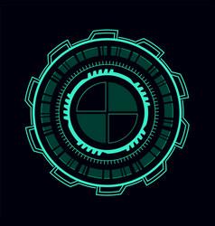 Futuristic green user interface virtual vector