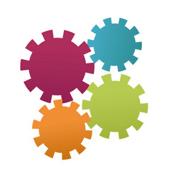 gears teamwork cooperation concept abstract design vector image