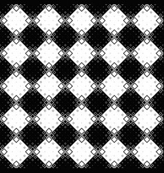 geometrical monochrome seamless square pattern vector image