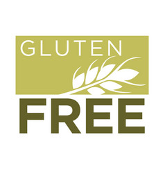 Gluten free healthy dietetic product icon vector