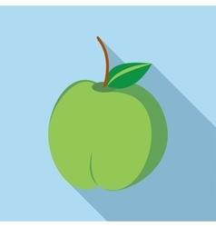 Green fresh apple icon flat style vector image