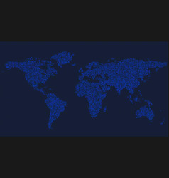 Halftone world map background - circle pattern vector