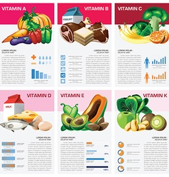 Health And Medical Vitamin Chart Diagram vector