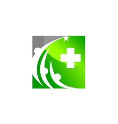 healthy care community vector image