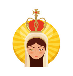 Holy virgin mary icon vector
