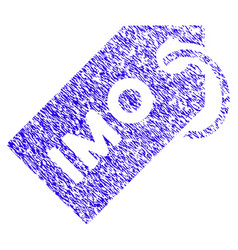 Imo tag icon grunge watermark vector