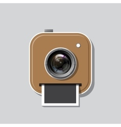 Instant photo icon vector