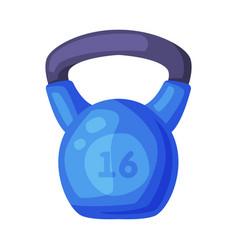 kettlebell fitness sports equipment cartoon style vector image